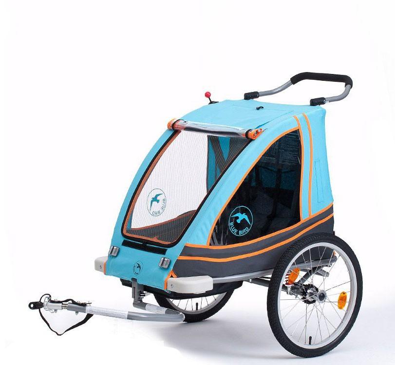 wypożyczalnia rowerów elektrycznych - Przyeczepka rowerowa dla dzieci – Blue Bird